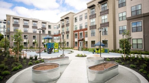 Valor Crossing property with courtyard and playground